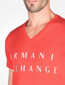 ARMANI EXCHANGE ARMANI EXCHANGE V-NECK T-SHIRT Logo T-shirt Man e