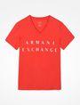 ARMANI EXCHANGE ARMANI EXCHANGE V-NECK T-SHIRT Logo T-shirt Man b