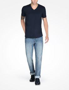 ARMANI EXCHANGE SIGNATURE V-NECK T-SHIRT S/S Knit Top Man a