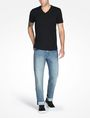 ARMANI EXCHANGE SIGNATURE V-NECK T-SHIRT S/S Knit Top Man a