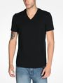 ARMANI EXCHANGE SIGNATURE V-NECK T-SHIRT S/S Knit Top Man f