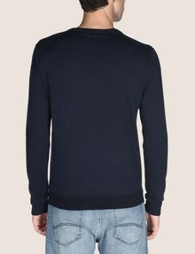 ARMANI EXCHANGE COTTON CASHMERE CREWNECK SWEATER Crew Neck Man b