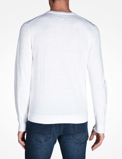 COTTON CASHMERE CREWNECK SWEATER