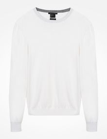 ARMANI EXCHANGE COTTON CASHMERE CREWNECK SWEATER Pullover Man b