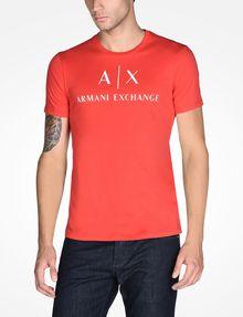 ARMANI EXCHANGE AX CREWNECK T-SHIRT Logo T-shirt Man f