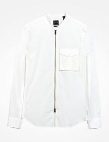 ARMANI EXCHANGE ZIP FRONT BANDED COLLAR SHIRT Long sleeve shirt U b