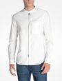 ARMANI EXCHANGE ZIP FRONT BANDED COLLAR SHIRT Long sleeve shirt Man f