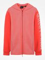 ARMANI EXCHANGE REFLECTIVE LOGO HOODIE Fleece Jacket Man b