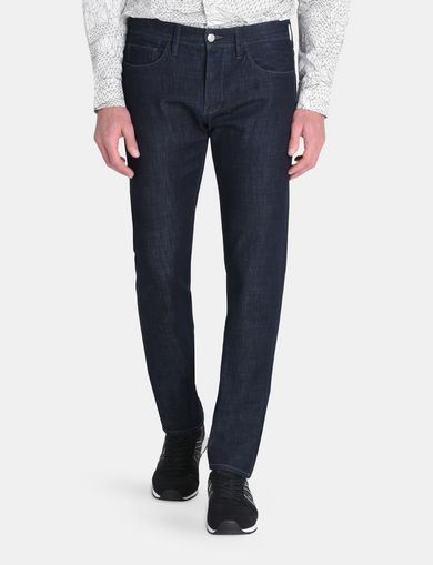 DARK RINSE STRAIGHT FIT JEANS