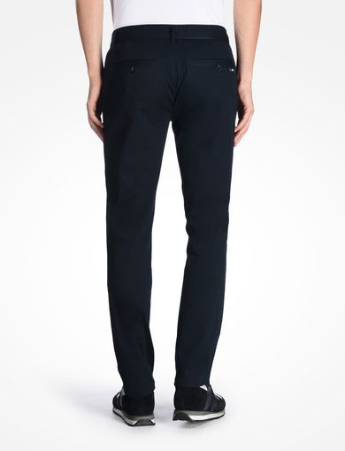 SLIM FIT TROUSERS WITH GROSGRAIN DETAIL
