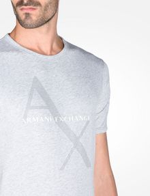 ARMANI EXCHANGE AX BOX LOGO T-SHIRT Logo T-shirt Man e