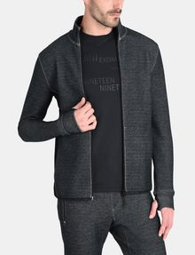 ARMANI EXCHANGE REFLECTIVE LOGO MOCKNECK JACKET Fleece-Jacke Herren f