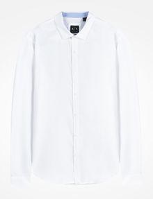 ARMANI EXCHANGE SLIM FIT CHAMBRAY SHIRT Long-Sleeved Shirt Man b