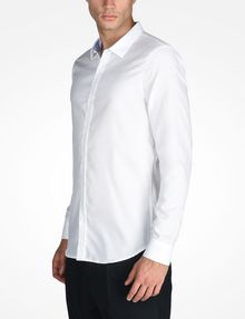 ARMANI EXCHANGE SLIM FIT CHAMBRAY SHIRT Long-Sleeved Shirt Man d