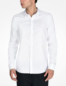 ARMANI EXCHANGE SLIM FIT CHAMBRAY SHIRT Long-Sleeved Shirt Man f