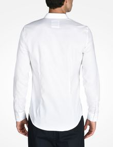 ARMANI EXCHANGE SLIM FIT CHAMBRAY SHIRT Long-Sleeved Shirt Man r