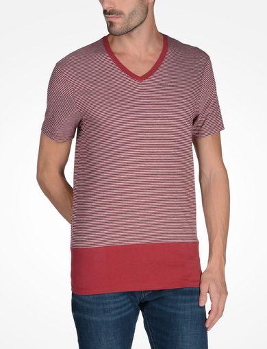 ボーダーVネックTシャツ