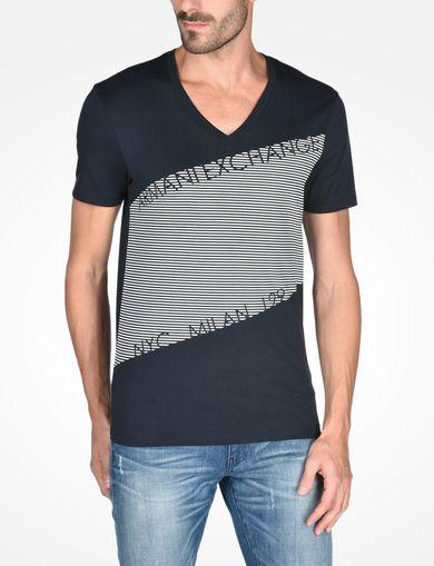 ボーダーロゴTシャツ