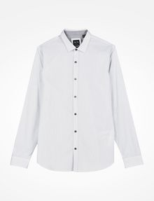 ARMANI EXCHANGE SLIM FIT STRIPED SHIRT Long-Sleeved Shirt Man b