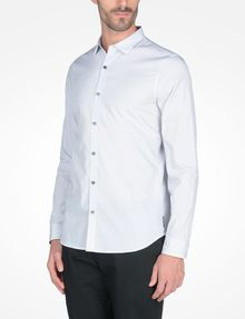 ARMANI EXCHANGE SLIM FIT STRIPED SHIRT Long-Sleeved Shirt Man d