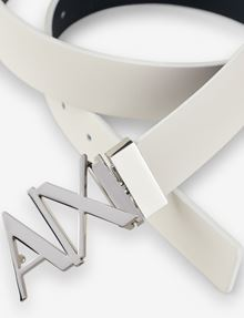ARMANI EXCHANGE REVERSIBLE CUTOUT LOGO BELT Belt Man r