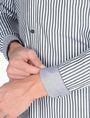 ARMANI EXCHANGE SLIM FIT STRIPED SHIRT Langärmeliges Hemd Herren e
