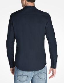 ARMANI EXCHANGE ZIP FRONT BANDED COLLAR SHIRT Long sleeve shirt U r