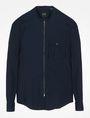 ARMANI EXCHANGE ZIP FRONT BANDED COLLAR SHIRT Long sleeve shirt Man b