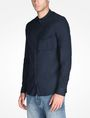 ARMANI EXCHANGE ZIP FRONT BANDED COLLAR SHIRT Long sleeve shirt Man d