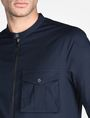 ARMANI EXCHANGE ZIP FRONT BANDED COLLAR SHIRT Long sleeve shirt Man e