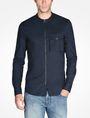 ARMANI EXCHANGE ZIP FRONT BANDED COLLAR SHIRT Long sleeve shirt Man f