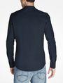 ARMANI EXCHANGE ZIP FRONT BANDED COLLAR SHIRT Long sleeve shirt Man r
