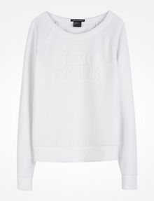 ARMANI EXCHANGE DEBOSSED LOGO SWEATSHIRT Fleece Top Woman b