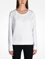 ARMANI EXCHANGE DEBOSSED LOGO SWEATSHIRT Fleece Top Woman f