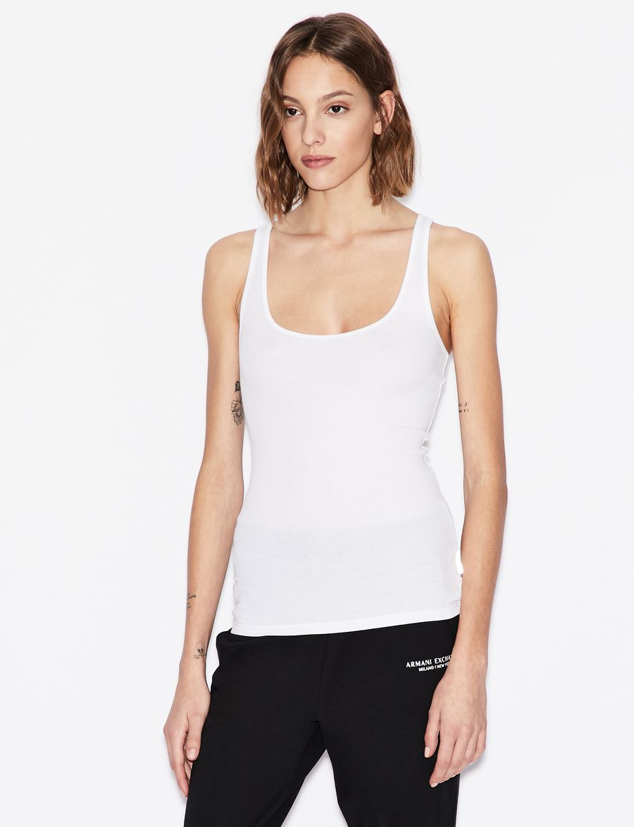 d5b2a31f65ea7b Armani Exchange SOLID COLOUR TANK