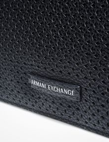 ARMANI EXCHANGE PERFORATED CLUTCH Wristlet Case Woman a