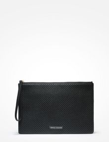 ARMANI EXCHANGE PERFORATED CLUTCH Wristlet Case D f