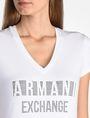 ARMANI EXCHANGE NAIL STUD V-NECK TEE Logo-T-Shirt Damen e