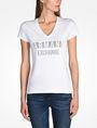 ARMANI EXCHANGE NAIL STUD V-NECK TEE Logo-T-Shirt Damen f