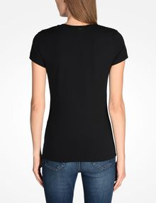 ARMANI EXCHANGE NAIL STUD V-NECK TEE Logo T-shirt Woman r