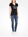 ARMANI EXCHANGE NAIL STUD V-NECK TEE Logo T-shirt Woman a