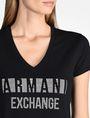 ARMANI EXCHANGE NAIL STUD V-NECK TEE Logo-T-Shirt [*** pickupInStoreShipping_info ***] e