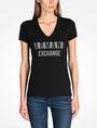 ARMANI EXCHANGE NAIL STUD V-NECK TEE Logo-T-Shirt [*** pickupInStoreShipping_info ***] f