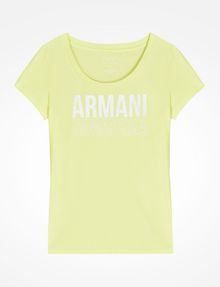 ARMANI EXCHANGE LIVED IN LOGO SCOOP NECK TEE Logo T-shirt Woman b