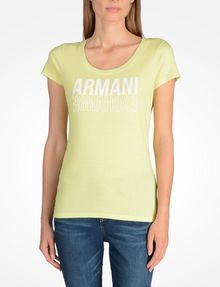 ARMANI EXCHANGE LIVED IN LOGO SCOOP NECK TEE Logo T-shirt Woman f