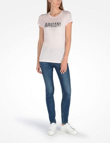 ARMANI EXCHANGE Logo-T-Shirt Damen a