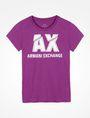 ARMANI EXCHANGE SLASHED LOGO GLAM TEE Logo T-shirt [*** pickupInStoreShipping_info ***] b