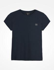 ARMANI EXCHANGE CIRCLE LOGO CREWNECK TEE Logo-T-Shirt Damen b