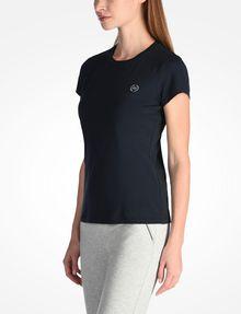 ARMANI EXCHANGE CIRCLE LOGO CREWNECK TEE Logo-T-Shirt Damen d