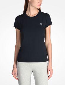 ARMANI EXCHANGE CIRCLE LOGO CREWNECK TEE Logo-T-Shirt Damen f